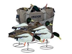 Higdon Magnum Field Duck Full-Body Flocked Head Mallard Duck Decoy with Slot Bag Polymer Pack of 6