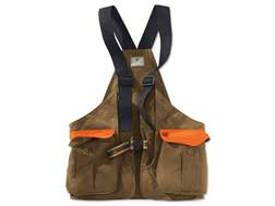 Beretta Waxed Cotton Strap Vest Cotton Brown and Blaze