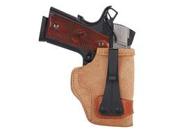 "Galco Tuck-N-Go Inside the Waistband Holster Right Hand 1911 Officer 3"" Barrel Leather Brown"