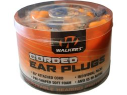Walker's Corded Ear Plugs (NRR 25 dB) Bucket of 50 Pairs Orange