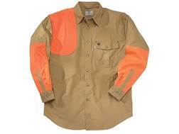 Beretta Men's Upland Heavy Duty Shooting Shirt Long Sleeve Cotton and Cordura Khaki and Blaze Ora...