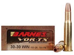 Barnes VOR-TX Ammunition 30-30 Winchester 150 Grain Triple-Shock X Bullet Flat Nose Lead-Free Box...
