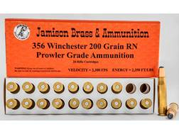 Jamison Ammunition 356 Winchester 200 Grain Lead Round Nose Box of 20