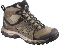 "Salomon Evasion Mid GTX 5"" Waterproof Hiking Boots Leather/Nylon Brown Men's"