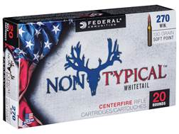 Federal Non-Typical Ammunition 270 Winchester 130 Grain Soft Point Box of 20