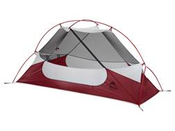 "MSR Hubba NX 1 Man Modified Dome Tent 85"" x 30"" x 36"" Polyester Red and White"