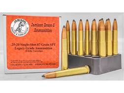 Jamison Ammunition 25-20 Single-Shot 87 Grain Spitzer Box of 20