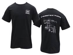 Glock Men's Breakdown T-Shirt Short Sleeve Cotton Black 2XL