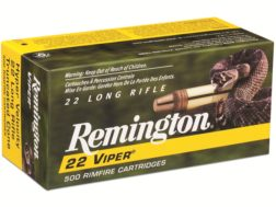 Remington Viper Hyper Velocity Ammunition 22 Long Rifle 36 Grain Plated Truncated Cone Box of 100