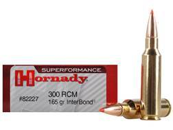Hornady Superformance Ammunition 300 Ruger Compact Magnum (RCM) 165 Grain InterBond Boat Tail Box...