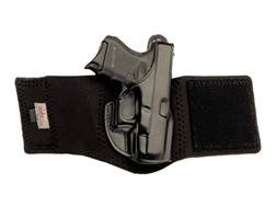 Galco Ankle Glove Holster Right Hand Glock 29, 30, 30S Leather with Neoprene Leg Band Black