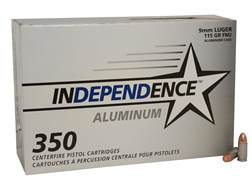 Independence Ammunition 9mm Luger 115 Grain Full Metal Jacket Box of 350