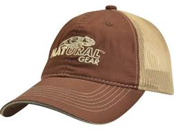 Natural Gear Mesh Back Logo Cap Polyester Brown