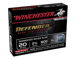 "Winchester PDX1 Defender Ammunition 20 Gauge 2-3/4"" 3/4 oz Segmenting Slug Box of 5"