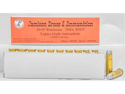 Jamison Ammunition 50-95 WCF 350 Grain Round Nose Flat Point Box of 20