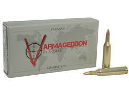 Nosler Varmageddon Ammunition 17 Remington 20 Grain Hollow Point Flat Base Box of 20