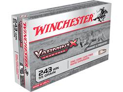 Winchester Varmint X Ammunition 243 Winchester 50 Grain Hollow Point Lead-Free Case of 200 (10 Bo...
