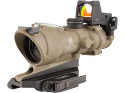 Trijicon ACOG Rifle Scope 4x 32mm Dual-Illuminated 5.56 Reticle with 3.25 MOA RMR Type 2 Red Dot ...