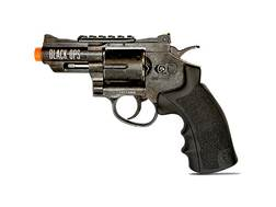 "Black Ops Exterminator Revolver 2.5"" Barrel Air Pistol 177 Caliber BB Aged"