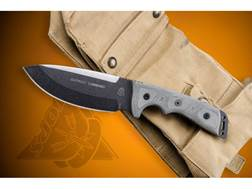 """TOPS Knives Outpost Command Fixed Blade Knife 5.75"""" Drop Point 1095 High Carbon Alloy Blade Linen..."""