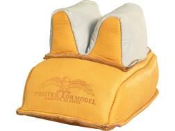 Protektor Super Slick Silver Rabbit Ear Rear Shooting Rest Bag Leather Tan Filled
