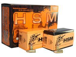 HSM Double Duty Ammunition Combo Pack 9mm Luger 115 Grain Full Metal Jacket and 115 Grain Jackete...