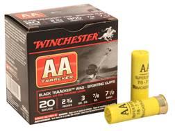 """Winchester AA TrAAcker Ammunition 20 Gauge 2-3/4"""" 7/8 oz #7-1/2 Shot"""