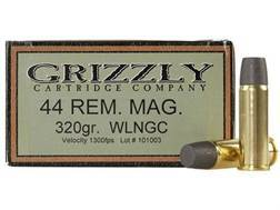 Grizzly Ammunition 44 Remington Magnum 320 Grain Cast Performance Lead Wide Flat Nose Gas Check B...