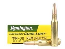 Remington Express Ammunition 7mm-08 Remington 140 Grain Pointed Soft Point Box of 20