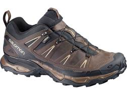 "Salomon X Ultra LTR GTX 4"" Hiking Shoes Synthetic and Leather Absolute Brown-X/Black/Navajo Men's"