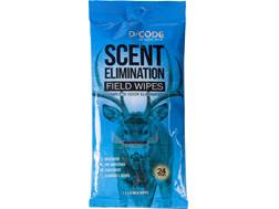 Code Blue D-Code Scent Elimination Field Wipes Pack of 20