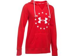 Under Armour Women's UA Freedom Favorite Fleece Logo Hoodie Cotton and Polyester Red XL