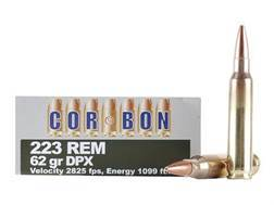 Cor-Bon DPX Hunter Ammunition 223 Remington 62 Grain DPX Hollow Point Lead-Free Box of 20
