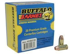 Buffalo Bore Ammunition 45 ACP +P 185 Grain Barnes TAC-XP Hollow Point Lead-Free Box of 20