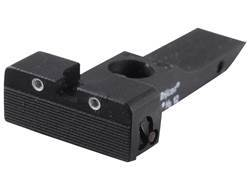 Kensight Adjustable Rear Night Sight Elliason Cut Steel Black Rounded Blade Serrated with High Vi...