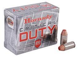 Hornady Critical Duty Ammunition 40 S&W 175 Grain FlexLock Box of 20