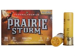 "Federal Premium Prairie Storm Ammunition 20 Gauge 2-3/4"" 1 oz #6 Plated Shot Case of 250 (10 Boxe..."