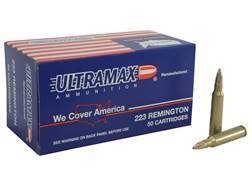 Ultramax Remanufactured Ammunition 223 Remington 52 Grain Jacketed Hollow Point