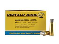 Buffalo Bore Ammunition 44 Remington Magnum 255 Grain Lead Semi-Wadcutter Gas Check Box of 20