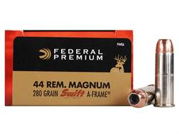 Federal Premium Vital-Shok Ammunition 44 Remington Magnum 280 Grain Swift A-Frame Jacketed Hollow...