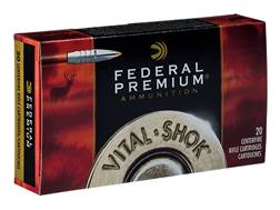 Federal Premium Vital-Shok Ammunition 7mm Weatherby Magnum 160 Grain Trophy Bonded Tip Box of 20