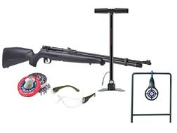 Benjamin Maximus Kit PCP Air Rifle 22 Caliber Pellet Black Synthetic Stock with Hand Pump, Piranh...