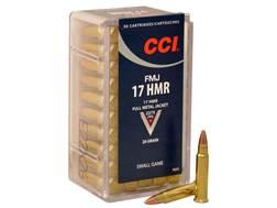 CCI Ammunition 17 Hornady Magnum Rimfire (HMR) 20 Grain Full Metal Jacket