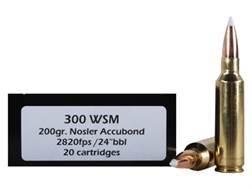 Doubletap Ammunition 300 Winchester Short Magnum (WSM) 200 Grain Nosler AccuBond Spitzer Boat Tai...