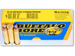 Buffalo Bore Ammunition 45-70 Government 350 Grain Jacketed Flat Nose Low Recoil Standard Pressur...