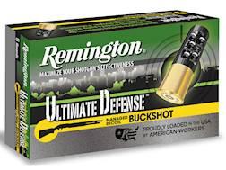 "Remington Ultimate Defense Buckshot Ammunition 12 Gauge 2-3/4"" Reduced Recoil #4 Buckshot 21 Pellets"