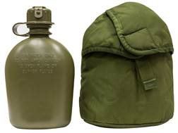 Military Surplus 1-Quart Canteen with Arctic ALICE Carrier Grade 1 Olive Drab