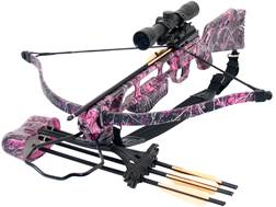 SA Sports Fever Crossbow Package with 4x32 Multi-Range Scope Muddy Girl Pink Camo
