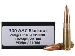Doubletap Ammunition 300 AAC Blackout 240 Grain Sierra MatchKing Hollow Point Boat Tail Box of 20