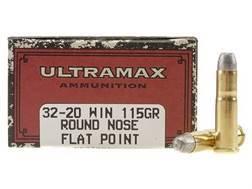 Ultramax Cowboy Action Ammunition 32-20 WCF 115 Grain Lead Flat Nose Box of 50